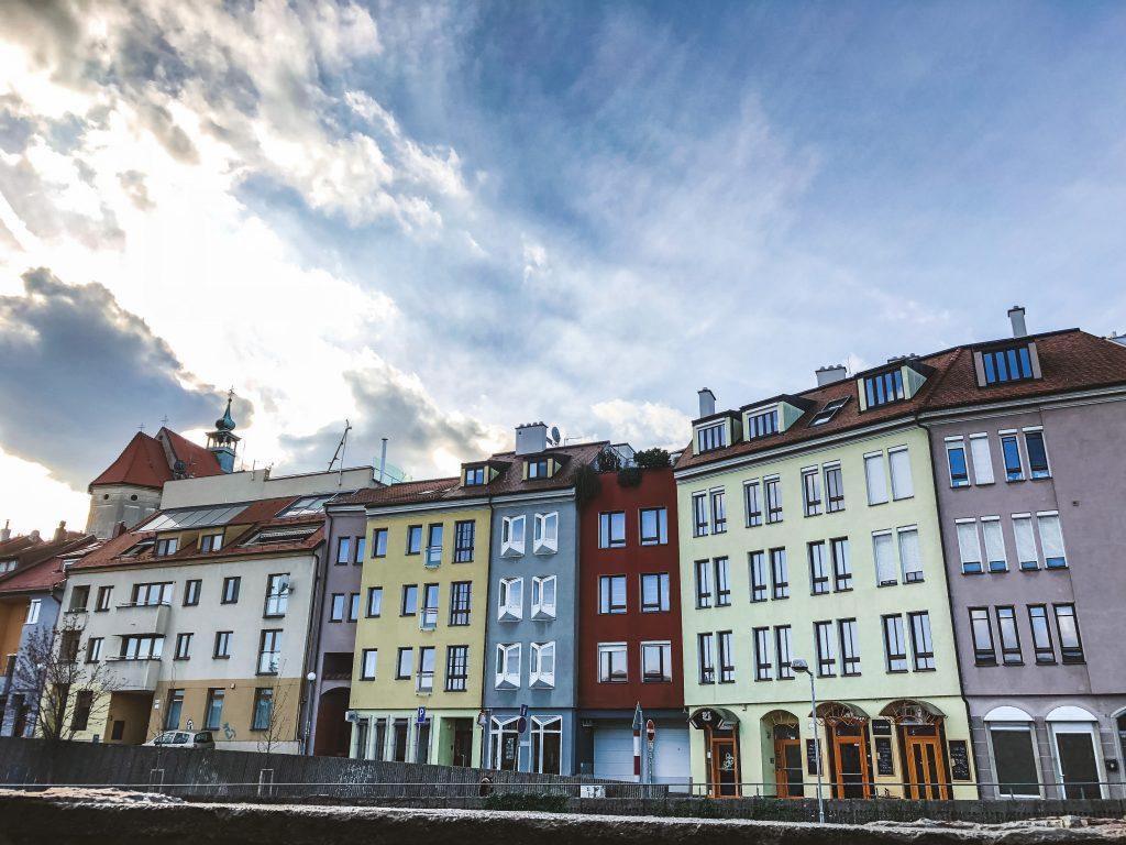 Casitas de colores en Bratislava