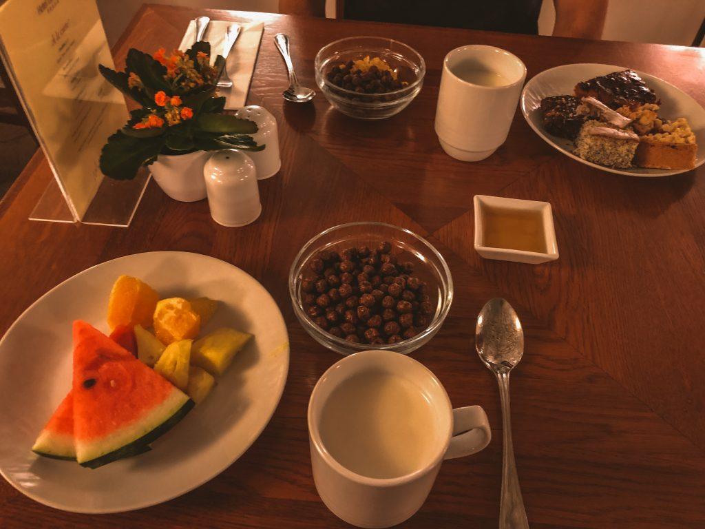 Desayuno del hotel Leonardo