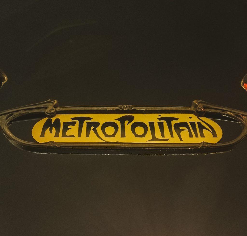 Señal del metro de París