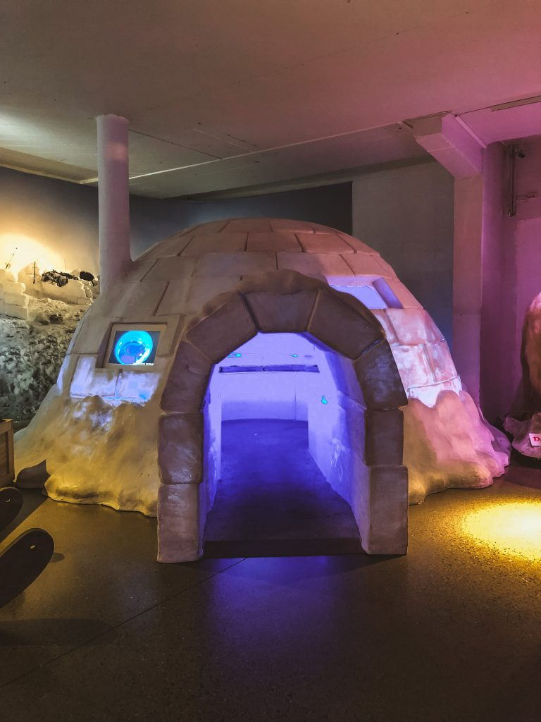 Iglú dentro del Museo Fram